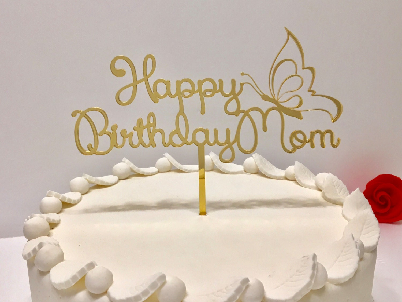 Happy Birthday Cake Topper Happy Birthday Pick Personalised