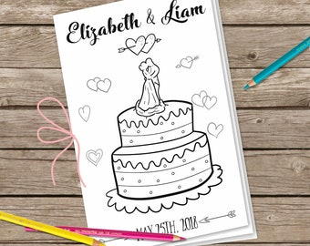Wedding Digital Coloring Pages, Wedding Booklet, Printable Coloring Pages, Children's Activity Sheets