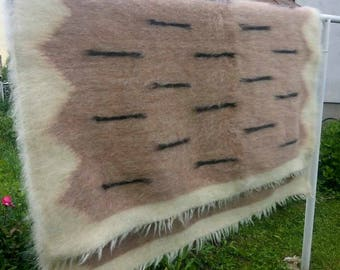 Wool Blanket Throw,Woven Bed Coverlet,King Bedding,Shag Area Rug,Livingroom Decor,Bed Spread,Sofa Cover,Carpet Rug,Wool Rug,Fuzzy Woven Rug