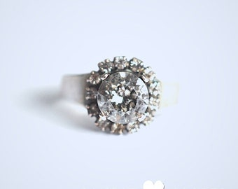 Kit rose or bague en cristal pluie = bijoux DIY