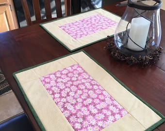 Daisy and Yellow Placemats