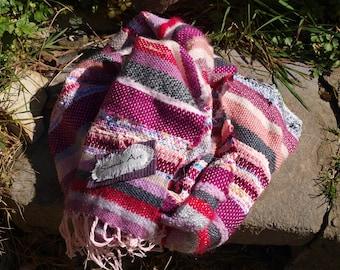 Saori style scarf