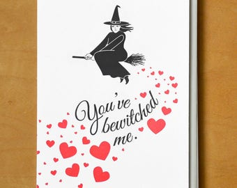 You've Bewitched Me - Letterpress Card