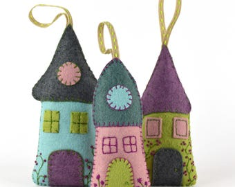 Felt Kit Lavender houses