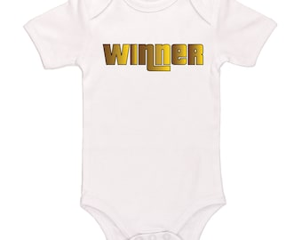 Winner Bodysuit - Successful Winning Clothing For Baby Boys And Baby Girls, Adorable One-Piece Outfit