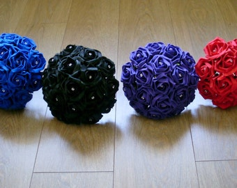 Artificial Wedding Flower Girl Posy - 4 colours