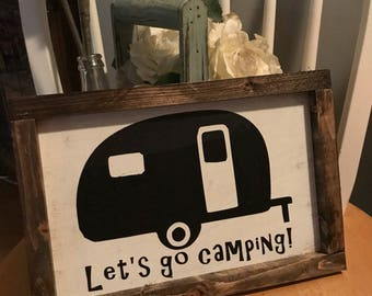 Farmhouse Sign Let's Go Camping