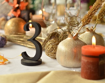Table Numbers- Wedding Table Numbers- Wood Table Number-  Weddings / Decor - Table Numbers- Table Number \ 1 to 20 set \