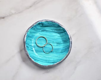 Painted Seafoam Ring Dish