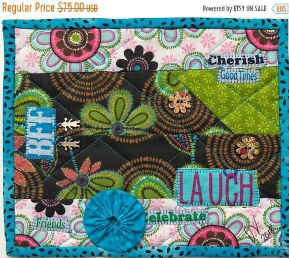 Hot Summer Sale Friendship #9 8x10 inch mini art quilt