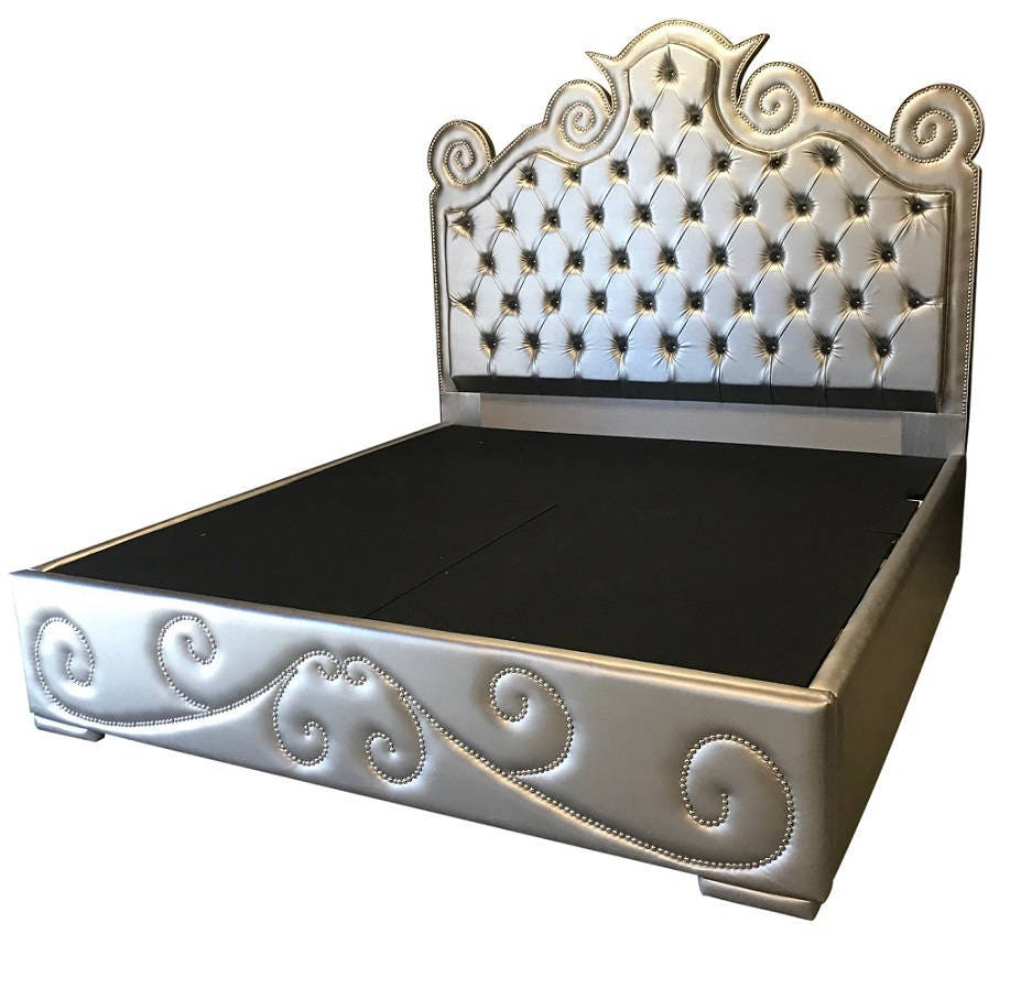 Cabecera King tamaño cama dormitorio muebles plataforma cama