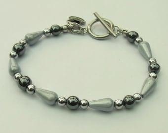 Haematite and miracle bead bracelet