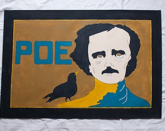 Edgar Allan Poe floor cloth