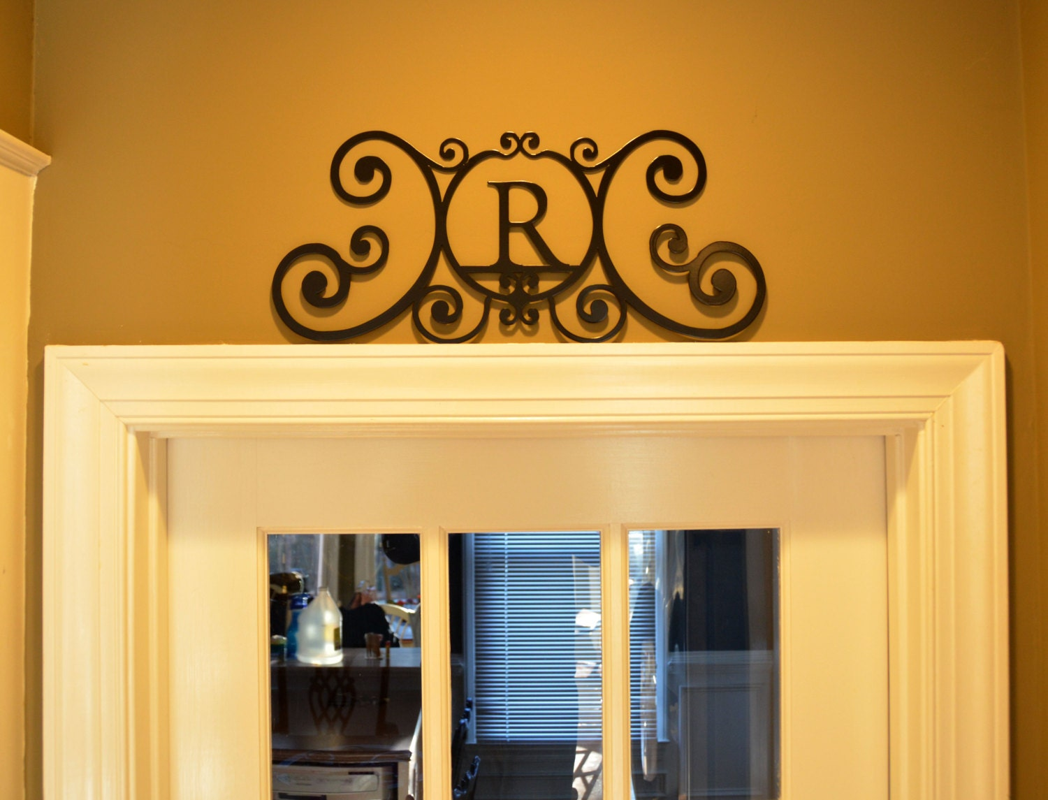 Personalized Wall Decoration Door Topper Custom Monogramed