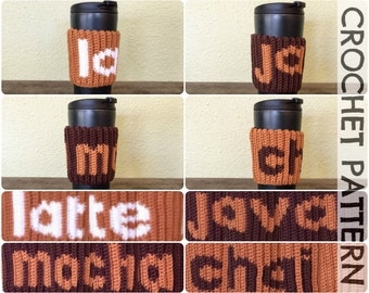CROCHET PATTERN: Coffee Lovers Mug Cozy