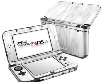 Nintendo 3DS XL Skin - Bianco Marble - Sticker Decal Wrap - New 3DS XL - Original 3DS XL