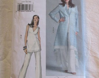 Vogue Woman 8268 UNCUT Duster Jacket Top and Pants Sewing Pattern Size 14 16 18