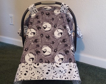 NIGHTMARE BEFORE CHRISTMAS w/Jack Baby Car Seat Canopy Cover