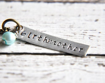 Custom Birthmother Necklace - Birthmother Gift - Adoption Gifts - Adoption Jewelry - Adoption Necklace - Foster Parent Gift - Gift for Her