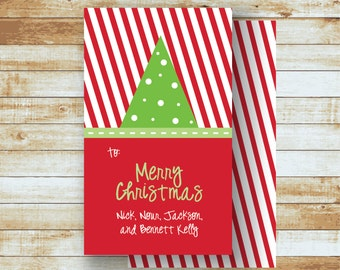Personalized Holiday Gift Tags / Christmas Tree