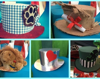 Themed Top Hats by Cat the Milliner