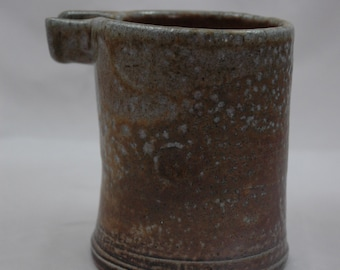 stoneware syrup pitcher - woodfired