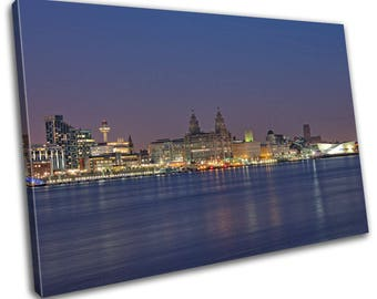 Liverpool Skyline Cityscape Canvas Print Home Decor- Abstract Wall Art - Modern Prints - Ready To Hang