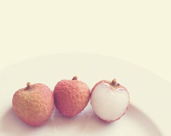 clearance sale, lychee photograph, still life photo, lychee fruit print, baby room wall art, sweet, neutral decor, minimalist, baker, food