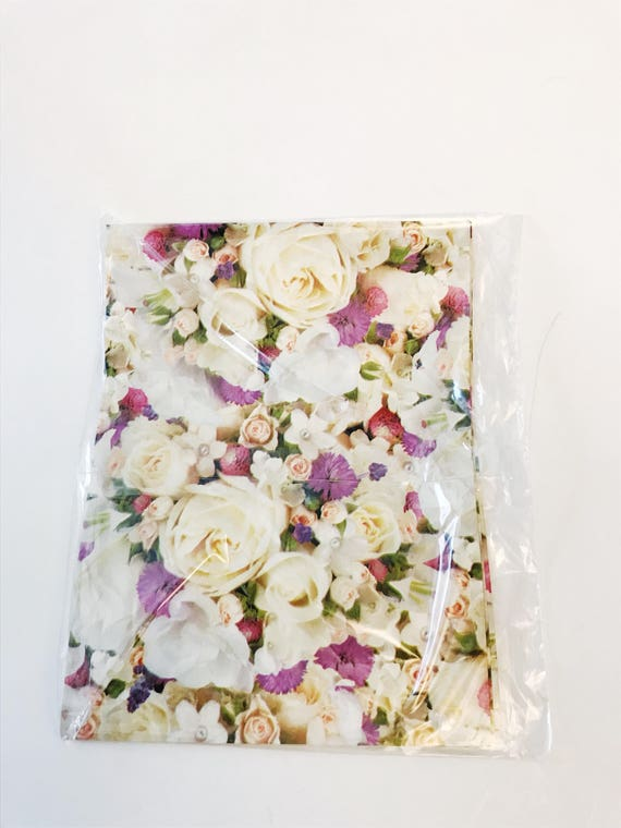 Roses Flower Bouquet Gift Wrap Tender Thoughts All Occasion Paper ...