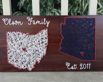 String art state signs - combined states