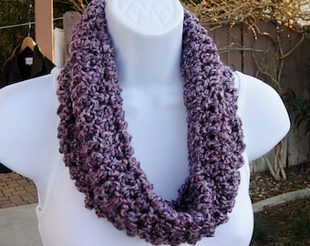 Summer Cowl Scarf, Summer Scarf, Small Purple Scarf, Crochet Cowl, Soft Crochet Necklace, Light Purple Neck Warmer, Ready to Ship in 2 Days