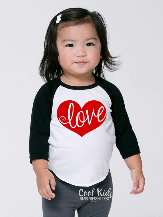Kids Valentineu0027s Day Shirts, Love Shirt, Toddler Girl Heart Raglan Tee,  Youths Valentineu0027s Day Tshirt, Valentineu0027s Outfits, Kids Clothing
