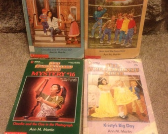 Vintage Lot of 4 The Baby-sitters Club Paperback Books by Ann M. Martin