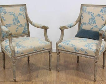 SOLD Louis XVI French Pair Chairs