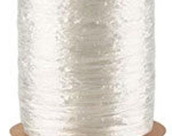 5-100 Yard Rolls-White Pearlized 1/2 Inch Raffia