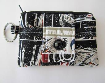 Star Wars Wallet, Star Wars Gift, Keychain Wallet, Gift for Nerd, Nerdy Gift, Star Wars Coin Purse, Star Wars ID Wallet, Gift under 15