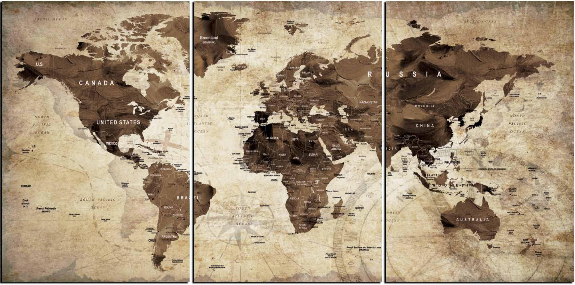 World mapworld map vintagevintage map artworld map wall artworld world mapworld map vintagevintage map artworld map wall artworld map canvas artworld map printbrown world mapold world map wall art gumiabroncs Gallery