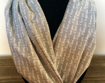Mothers day scarf, mothers day I love you scarf, I love you scarf, mothers day gift