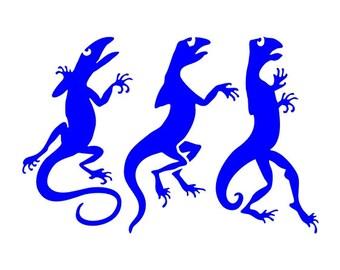 536 Lizards stencil