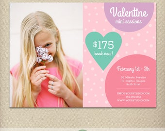 Valentine's Day Mini Session Template, Valentine Minis, Mini Session Ad, Love, Couples, Photography Special, Promo, Deal, Advertising  - E29