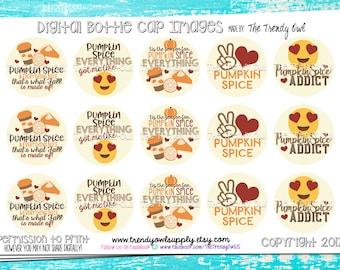 "Peace, Love, Pumpkin Pie - Fall/Thanksgiving Inspired Digital Bottle Cap Images - INSTANT DOWNLOAD - 1"" Bottle Cap Images 4x6 - 163"