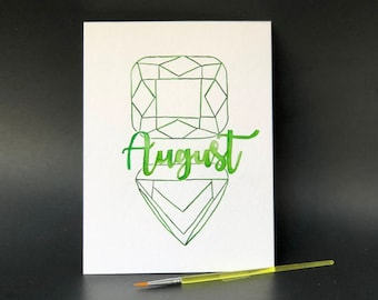 August Birthstone - Paint Kit