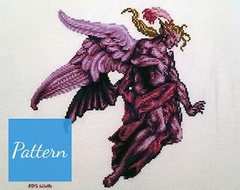 Kefka Final Form (Final Fantasy VI) Cross Stitch Pattern
