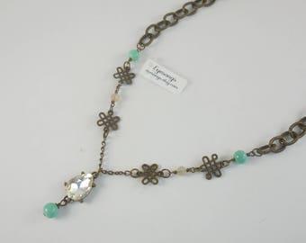 Vintage and Aqua Necklace