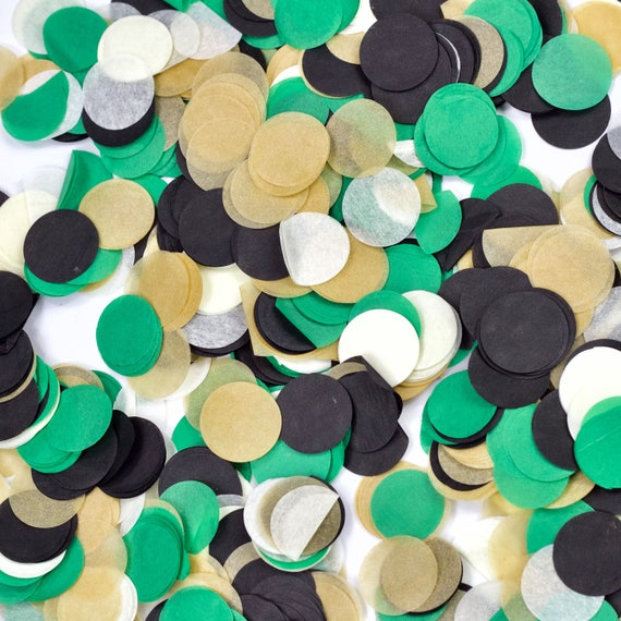 Where The Wild Things Are Confetti, Green Beige Confetti, Shred, Table Decor, Confetti Balloon, First Birthday Boy Baby Shower Woodland