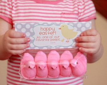 IMMEDIATE Download- Easter Treat Bag Tags: Peeps - Printable PDF
