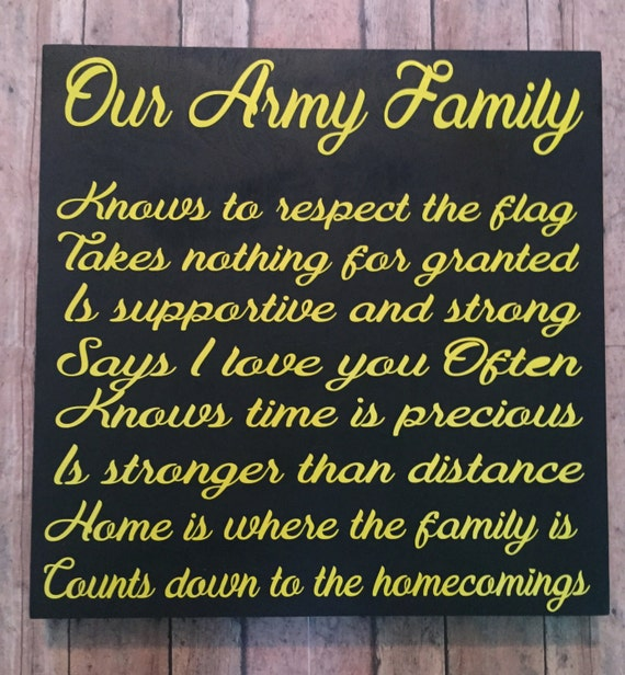 Army Family Military Family Military Home Decor Gifts For