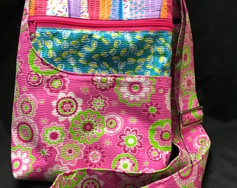 purse, colorful, zippered pockets