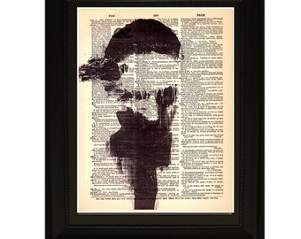 """Memories''.Dictionary Art Print. Vintage Upcycled Antique Book Page. Fits 8""""x10"""" frame"""