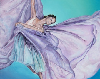 Dancing in the freedom - prints of original acrylic painting